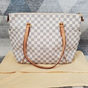 Louis Vuitton Totally MM in Damier Azur